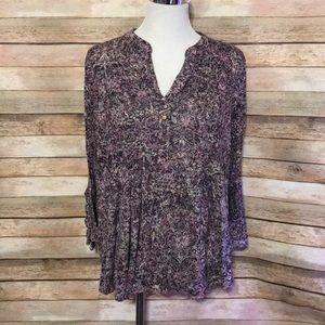 Avenue purple blouse
